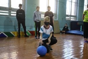 Тренировка игры в голбол